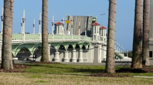 Love the Lion's Gate Bridge the links where we are to Historic St. Augustine