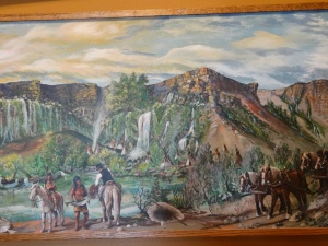 Painting of Thousand Springs where I went swimming in my teens, Hagerman Valley.