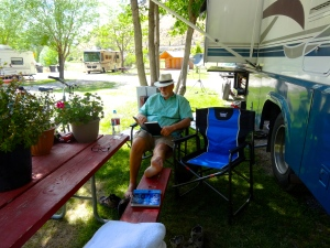 New chairs for the motor home