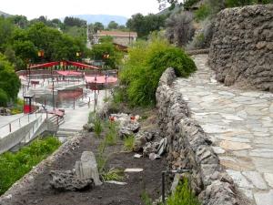 Garden walk above hot springs