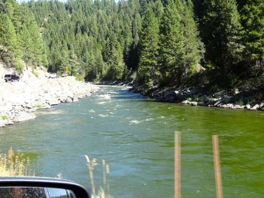 Drove highway 55 along the Payette River-many memories going to the University of Idaho