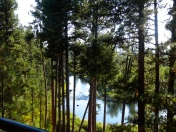View from Jackie and Larry's Deck in McCall on Payette River just behind Smoke Jumpers airport.