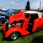 "New Meadows Labor Day loggers event and car show. ""Little Deuce Coupe"""