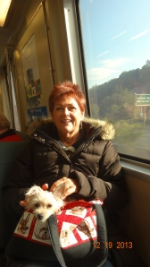 Bart to San Francisco Airport-Georgie and me.
