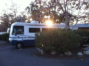 Stayed above the ocean at Ventura RV place that had heated pool